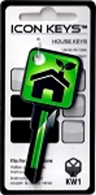 9665-Green Icon House Key
