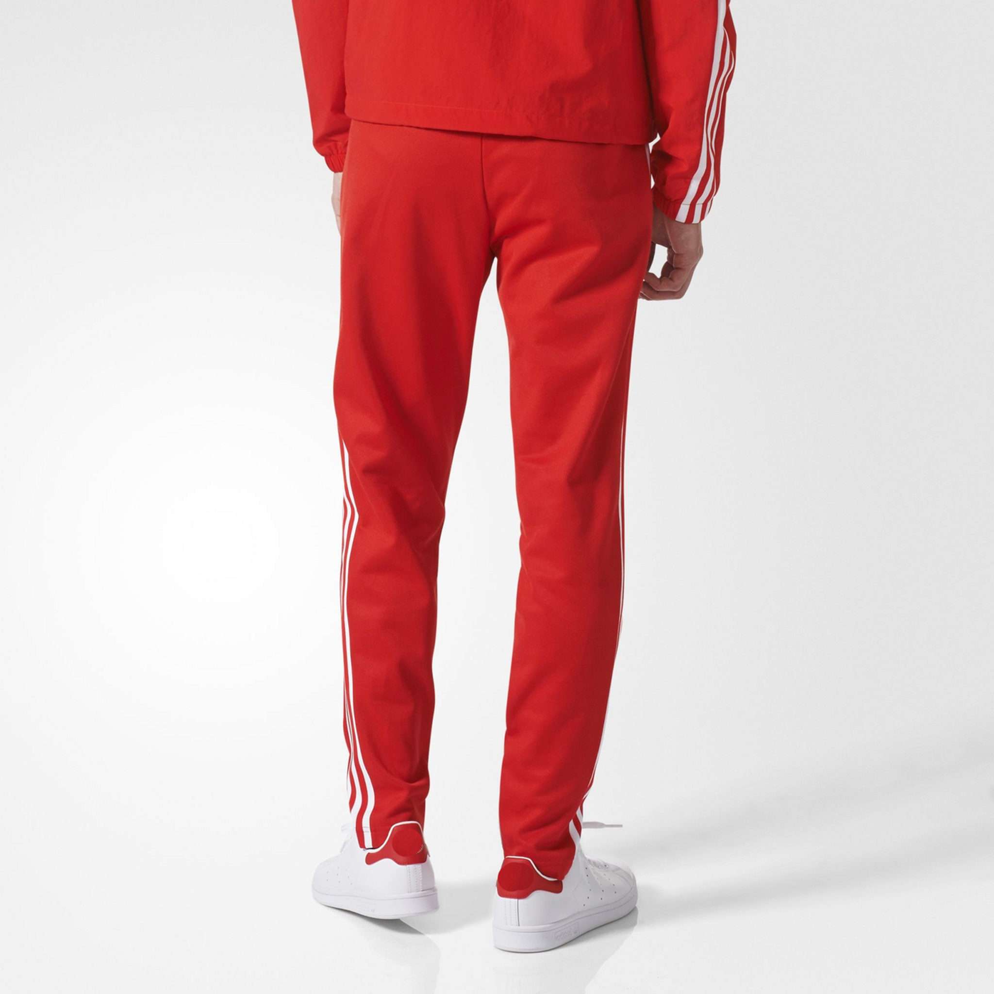Fifth Avenue Men's Limited Edition Dri-Fit Tri Stripe Track Pants - Red and White