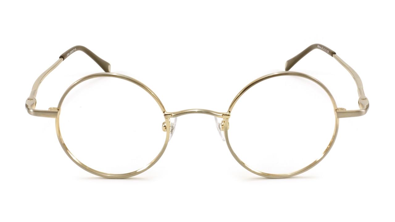 John Lennon Walrus Eyeglass Frames - Satin Gold