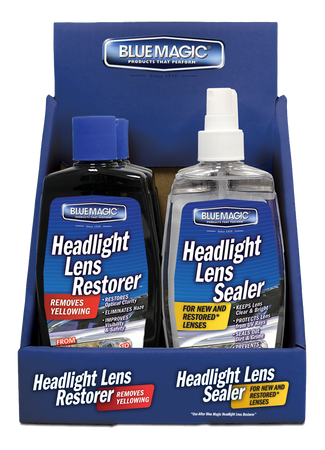 735CD-06 | Headlight Lens Restorer, 3 Ea, And Headlight Lens Sealer Counter Display, 3 Ea