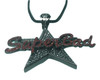"SuperBad Pendant w/FREE 36"" Chain-Approx 4""x 2.5"" Black
