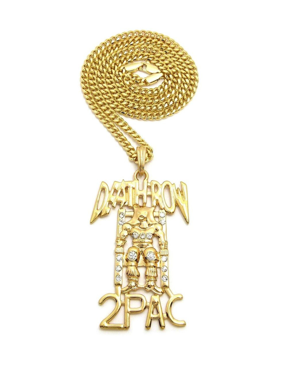 New deathrow 2pac pendant 27 4mm cuban chain the black bat new deathrow 2pac pendant 27 4mm cuban aloadofball Choice Image