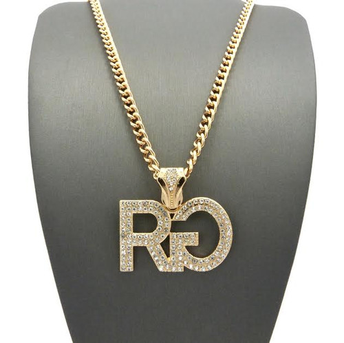 """RG Hip Hop Pendant Fully Iced Out w/FREE 36"""" Chain"""