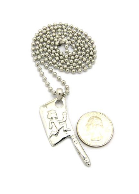 "Twiztid hatchet   1""x1/2"" pendant in silver w/FREE Chain"