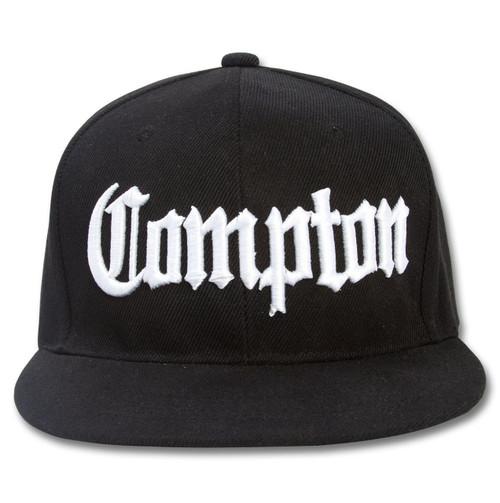 Black Compton Snapback Cap