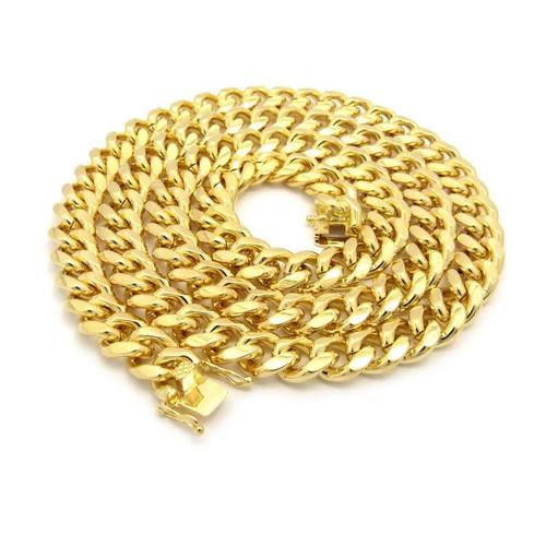 """NEW-10mm Fat 26"""" Gold Miami Cuban Chain"""