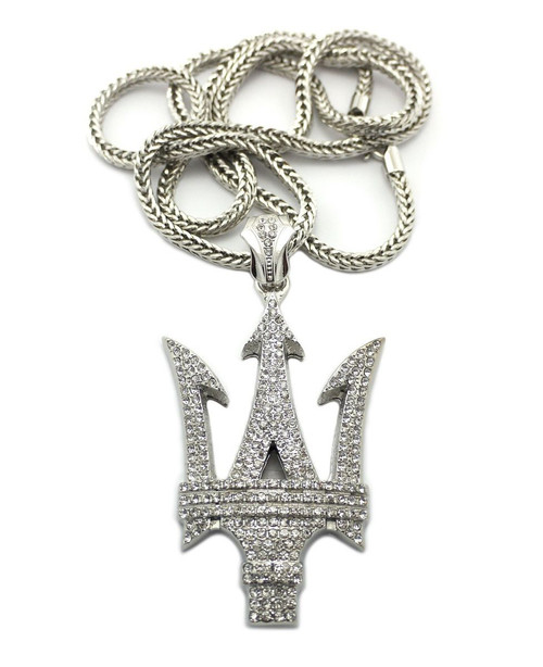 "Iced Out Hip Hop Auto Pendant (Mas) w/36"" Chain 