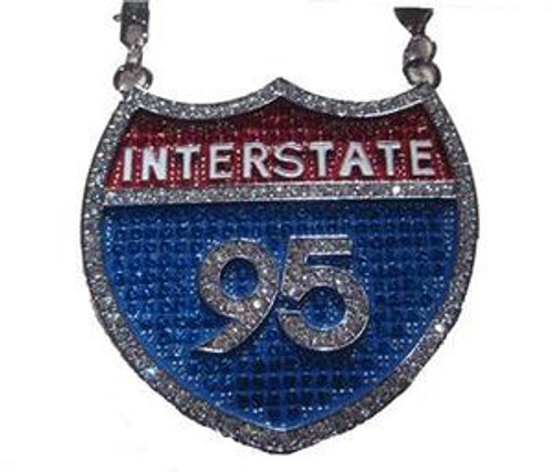 """I-95 Pendant Top Quality CZ Stone"""
