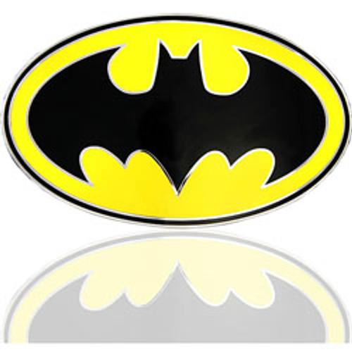 """The Dark Knight Rises /DC COMICS Batman black and yellow LICENCED Belt Buckle"