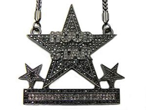 Hood star black hip hop pendant custom the black bat hood star black hip hop pendant custom aloadofball