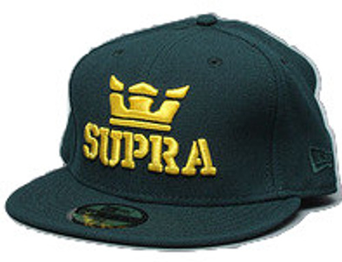 """Supra The Site New Era Cap Sz 8 Dark Green)"
