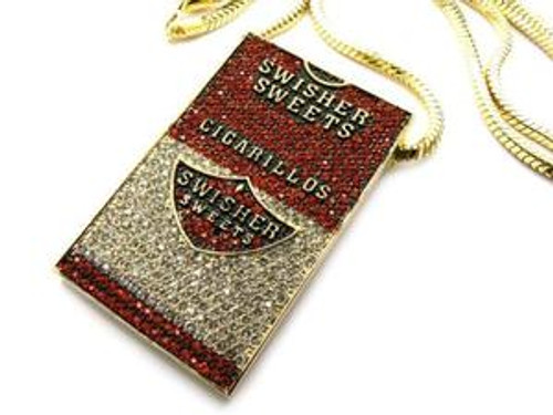 """ICED OUT SWISHER SWEETS PIECE & FRANCO GOLD CHAIN"