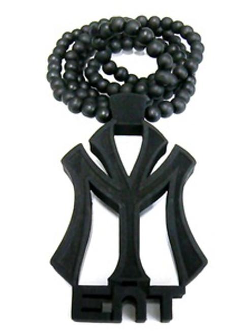 """Good Wooden Young Money Nicki Minaj -Black pendant w/36"" bead chain"