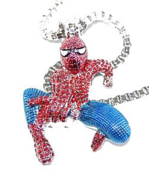"""Spiderman Red and Blue Pendant w/ FREE 36"""" Chain"""