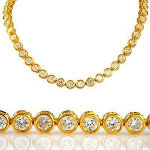 """Iced Out Gold & Clear Stone Bullet Chain 36"""""""