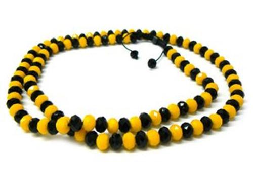 """""""BLACK &YELLOW  Shambhala 10MM x 36"""" Chain"""