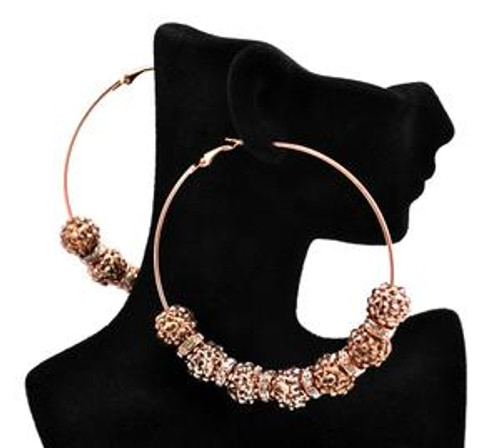 """""""Basketball Wives Earrings-Gold Shambhala Hoops"""