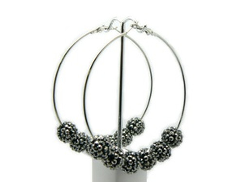 """""""Basketball Wives Earrings-Speed crystal Hoops"""