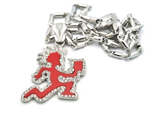 """""""ICP_red pendant/CLEAR ICE w/FREE36"""" Chain"""