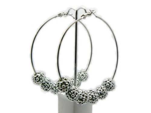 """""""Basketball Wives Earrings-All Silver"""