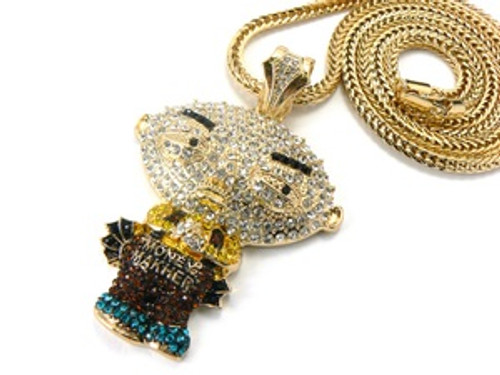 Iced out stewie gold pendant wfree 36 chain the black bat iced out stewie gold pendant wfree 36 chain aloadofball