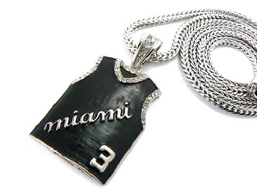 """""""Miami Dwyane Wade #3 Pendant w/FREE 36"""" Chain"""