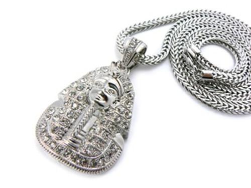 """King Tut Silver Pendant w/FREE 36"" Chain"