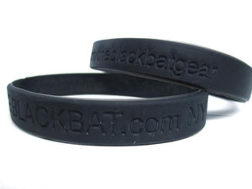 """theblackbat.com/FACEBOOK  Silicone Wristband"