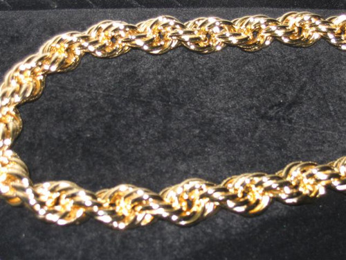 """10MM-Hip Hop  Pure gold rope chain 30"""""""