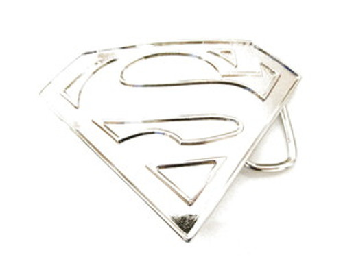 """Superman Silver Matte Finish Belt Buckle"