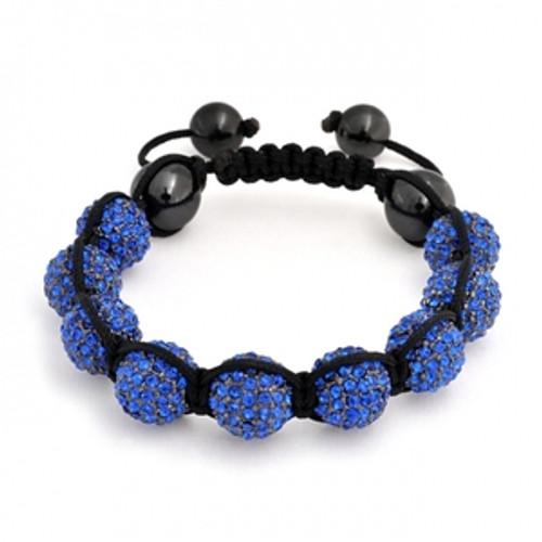 """BLUE 9Ball Shambhala Baller Bracelet w/FREE BOX/REG.$98"