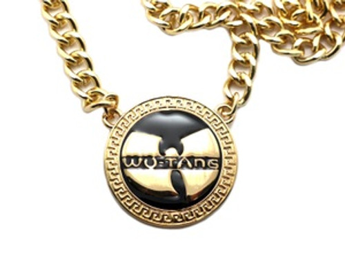 """1-WU-TANG Gold Pendant w/FREE 36"" Chain"