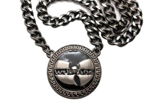 """1-WU-TANG Black Pendant w/FREE 36"" Chain"