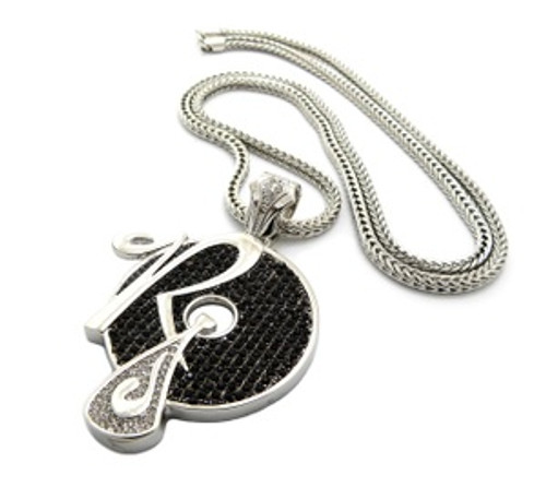 """ICED OUT JAY-Z, KANYE "" ROCAFELLA RECORDS ""PENDANT & 36"" 4mm FRANCO CHAIN.."