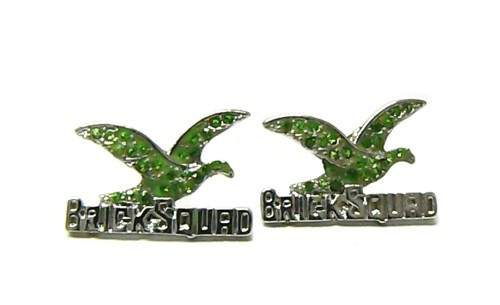 Official Brick Squad Green Ice w/Silver Earrings! BE BOLD Make a statement!