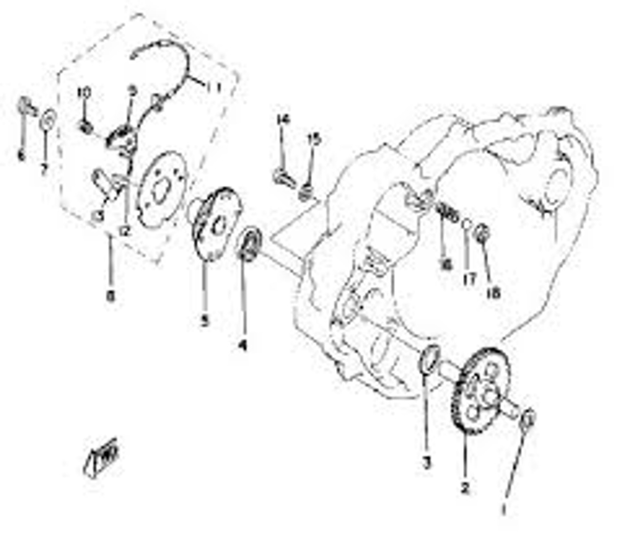 Washer for Centrifugal Governor (item #1, between Crankcase and Cogwheel), OEM reference # 90201-09572