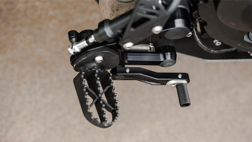 Footpegs Rider, toothed Enduro-Style. Welded Stainless Steel MT-09 XSR900