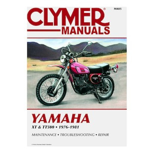 Workshop Manual Yamaha TT500 XT500 76-81 Clymer