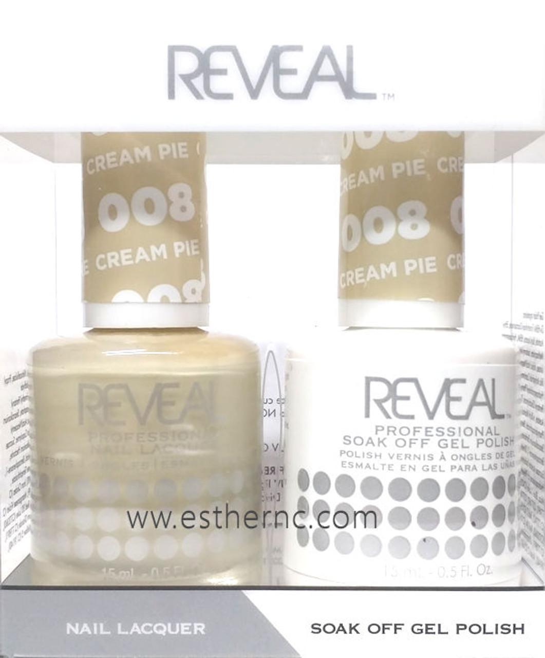 Reveal Gel Polish Cream Pie #008