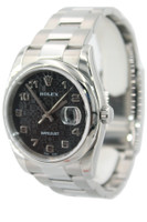 Rolex Stainless Steel Datejust - 36mm - Black Jubilee Dial - Domed Bezel - Oyster Band - Ref. 116200