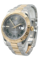 Rolex Oyster Perpetual Datejust II - 41mm - Two Tone - Green Roman Dial - Oyster Bracelet - Ref. 116333