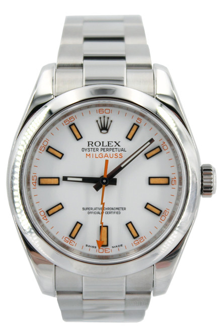 Rolex Oyster Perpetual Milgauss - 40mm - Stainless Steel - White Dial - Ref. 116400