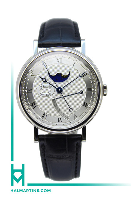 Breguet Classique Moonphase White Gold - Silver Guilloche Dial - Ref. 7787