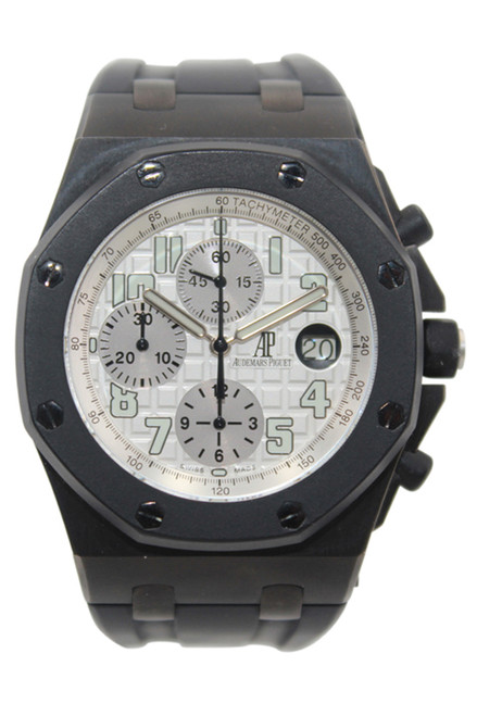 Audemars Piguet Royal Oak Offshore Chrono - Black PVD case and Rubber Strap