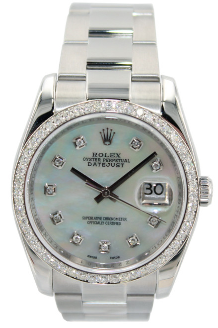 Rolex Stainless Steel Datejust - 36mm - MOP Diamond Dial - Ref. 116200