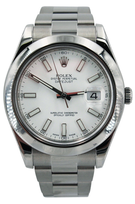 Rolex Stainless Steel Datejust II - 41mm - Smooth Bezel - White Index Markers - Ref. 116300