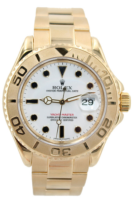 Rolex 18k Yellow Gold Yachtmaster - 40mm - White Dial - Ref. 12566