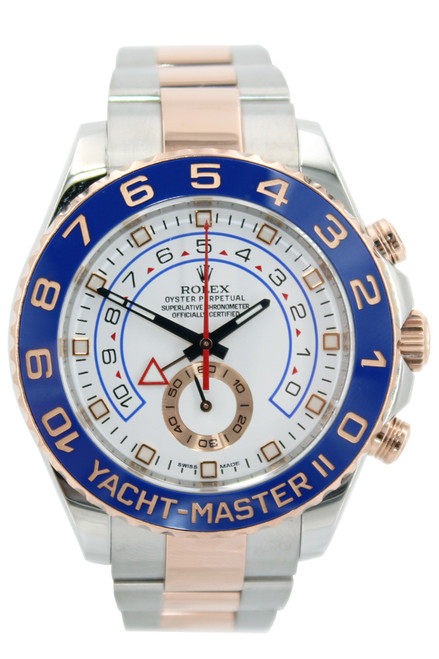 Rolex Two Tone Yacht-Master II - 44mm - Ceramic Blue Bezel - Stainless and Rose Bracelet - Ref. 116681