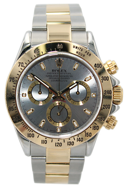 Rolex Oyster Perpetual Cosmograph Daytona - 40mm - Two Tone- Silver Index Dial - Ref. 116523