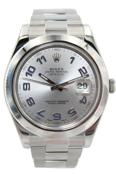 Rolex Stainless Steel Datejust II - 41mm -  Arabic Dial - Smooth Bezel - Ref. 116300